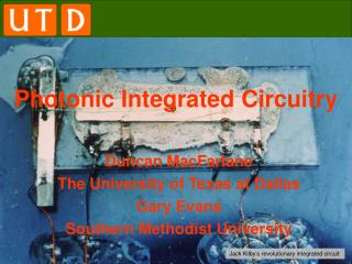 Photonic Integrated Circuitry