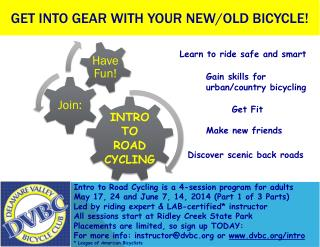 Get Into gear with your new/old bicycle !