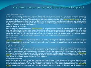 Get best customer service from Hotmail support