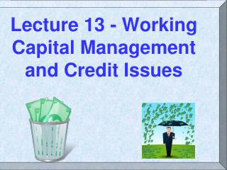 Lecture 13 - Working Capital Management and Credit Issues