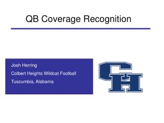 Josh Herring Colbert Heights Wildcat Football Tuscumbia, Alabama