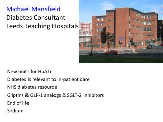 Michael Mansfield Diabetes Consultant Leeds Teaching Hospitals