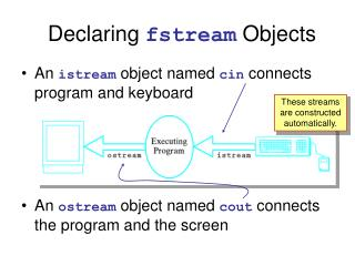 Declaring  fstream  Objects