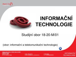 Studijní obor 18-20-M/01