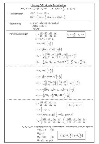 Lösung DGL durch Substitution