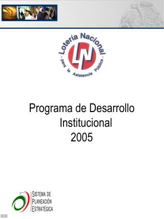 Programa de Desarrollo Institucional 2005