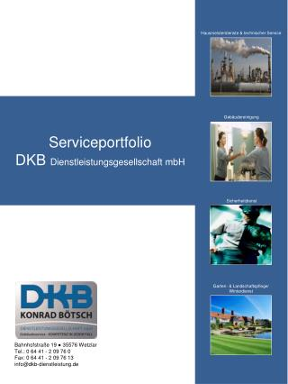 Serviceportfolio DKB  Dienstleistungsgesellschaft  mbH