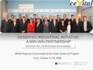 DESERTEC Industrial Initiative: a win-win partnership