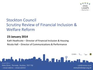 Stockton Council  Scrutiny Review of Financial Inclusion & Welfare Reform