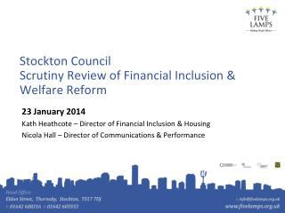 Stockton Council  Scrutiny Review of Financial Inclusion & Welfare Reform