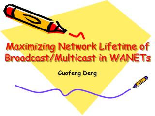 Maximizing Network Lifetime of Broadcast/Multicast in WANETs