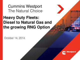 Cummins Westport The Natural Choice