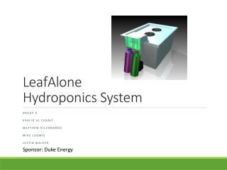 LeafAlone Hydroponics System
