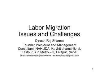 Labor Migration Issues and Challenges
