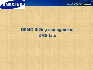 DEMO Billing management DMS Lite