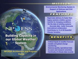 NPOESS Architecture and Program Status