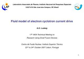 Laboratório Associado de Plasma, Instituto Nacional de Pesquisas Espaciais