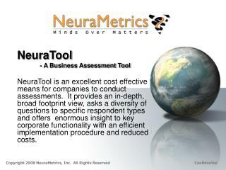 NeuraTool - A Business Assessment Tool