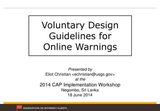 Voluntary Design Guidelines for  Online Warnings