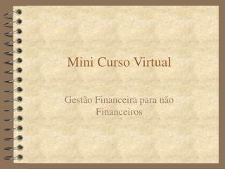 Mini Curso Virtual