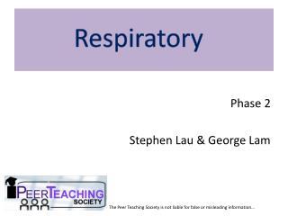 Phase 2 Stephen Lau & George Lam