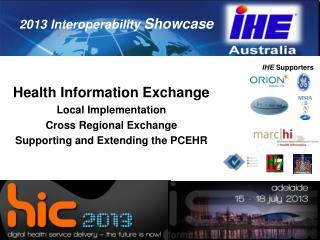 Health Information Exchange Local Implementation Cross Regional Exchange