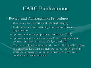 UARC Publications