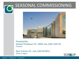 SEASONAL COMMISSIONING