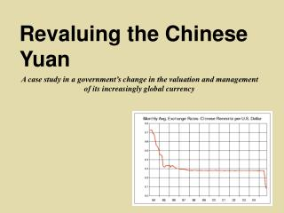 Revaluing the Chinese Yuan