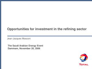 Opportunities for investment in the refining sector