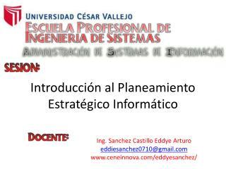 Introducción al Planeamiento Estratégico Informático