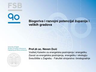 Biogoriva i razvojni potencijal županija i velikih gradova