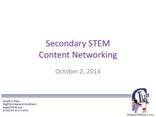 Secondary STEM Content Networking