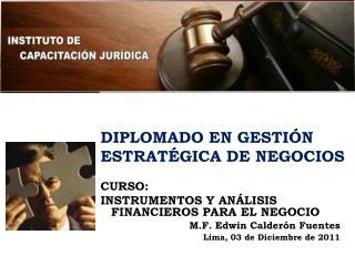 DIPLOMADO EN GESTIÓN ESTRATÉGICA DE NEGOCIOS