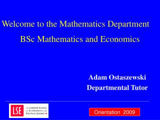 BSc Mathematics and Economics