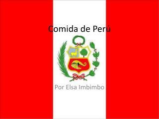 Comida de Perú
