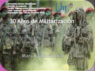 30 Años de  Militarización