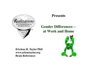 Presents Gender Differences— at Work and Home