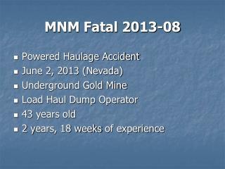MNM Fatal 2013-08