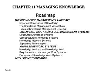 CHAPTER 11 MANAGING KNOWLEDGE