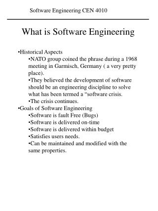 What is Software Engineering  Historical Aspects