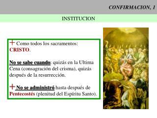 CONFIRMACION, 1