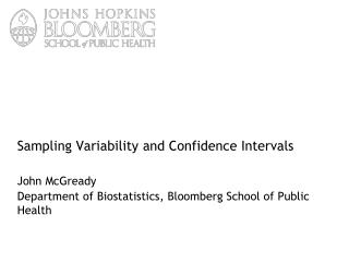 Sampling Variability and Confidence Intervals