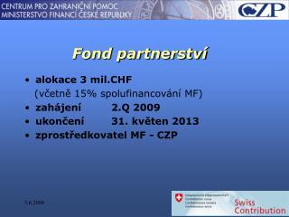 Fond partnerství