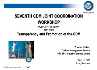 SEVENTH CDM JOINT COORDINATION WORKSHOP