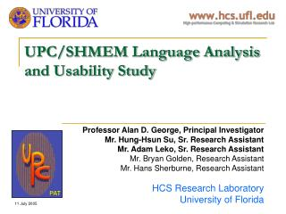 UPC/SHMEM Language Analysis and Usability Study
