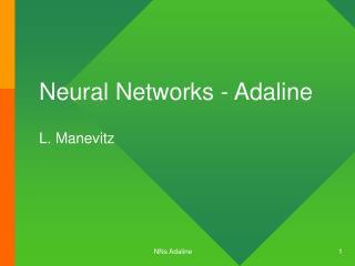 Neural Networks - Adaline