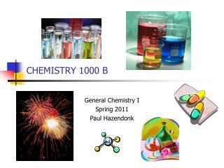 CHEMISTRY 1000 B