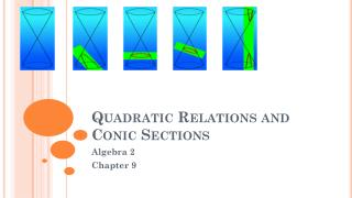 Quadratic Relations and Conic Sections