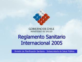 Reglamento Sanitario Internacional 2005